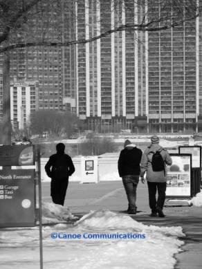 city tourists monochrome