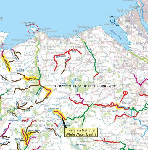 Canoe and Kayak map of Britain - sample