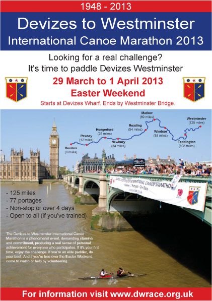 Devizes to Westminster 2013 poster