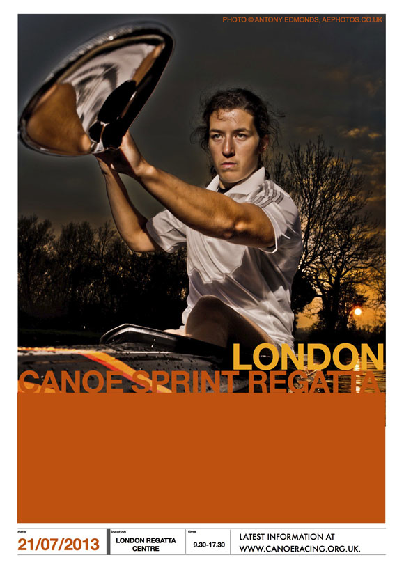 London Canoe Sprint Regatta in Docklands 2013 poster