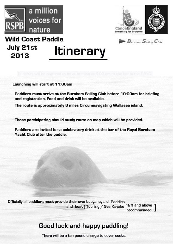 Sea kayak around Wallersea Island poster