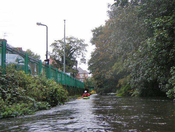 Kayaker on the River Wandle