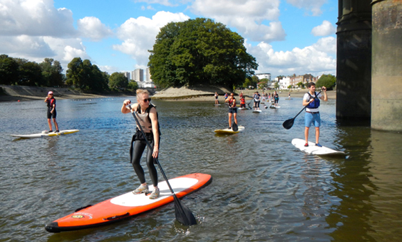 Stand up paddleboarding with Active360 for TideFest