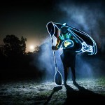 Fuse: Thames kayaking at night, water and electric lights