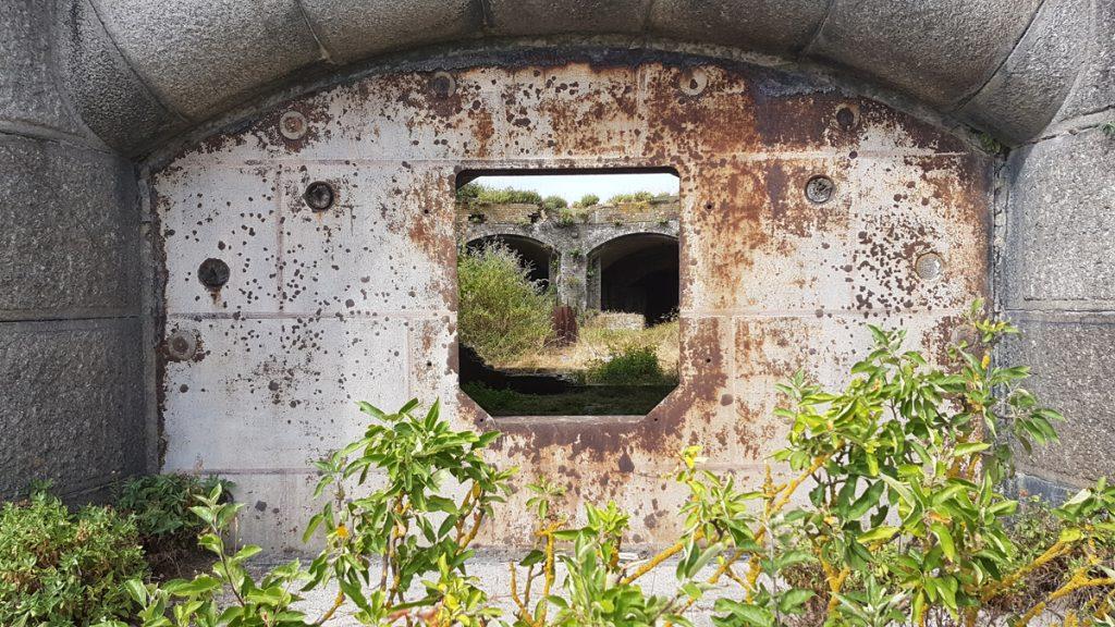 Exterior of Fort Darnet showing gun port