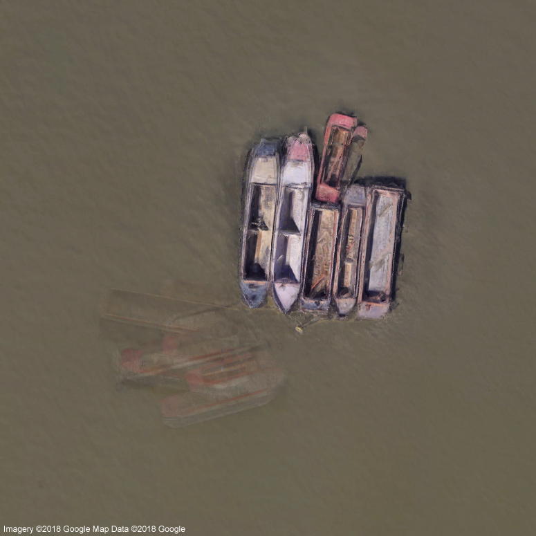 Ghost ships on the River Thames