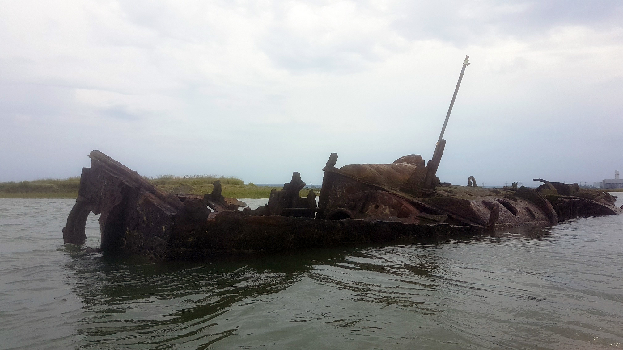 The wreck of German U-boat UB122, a submarine found in the River Medway estuary.