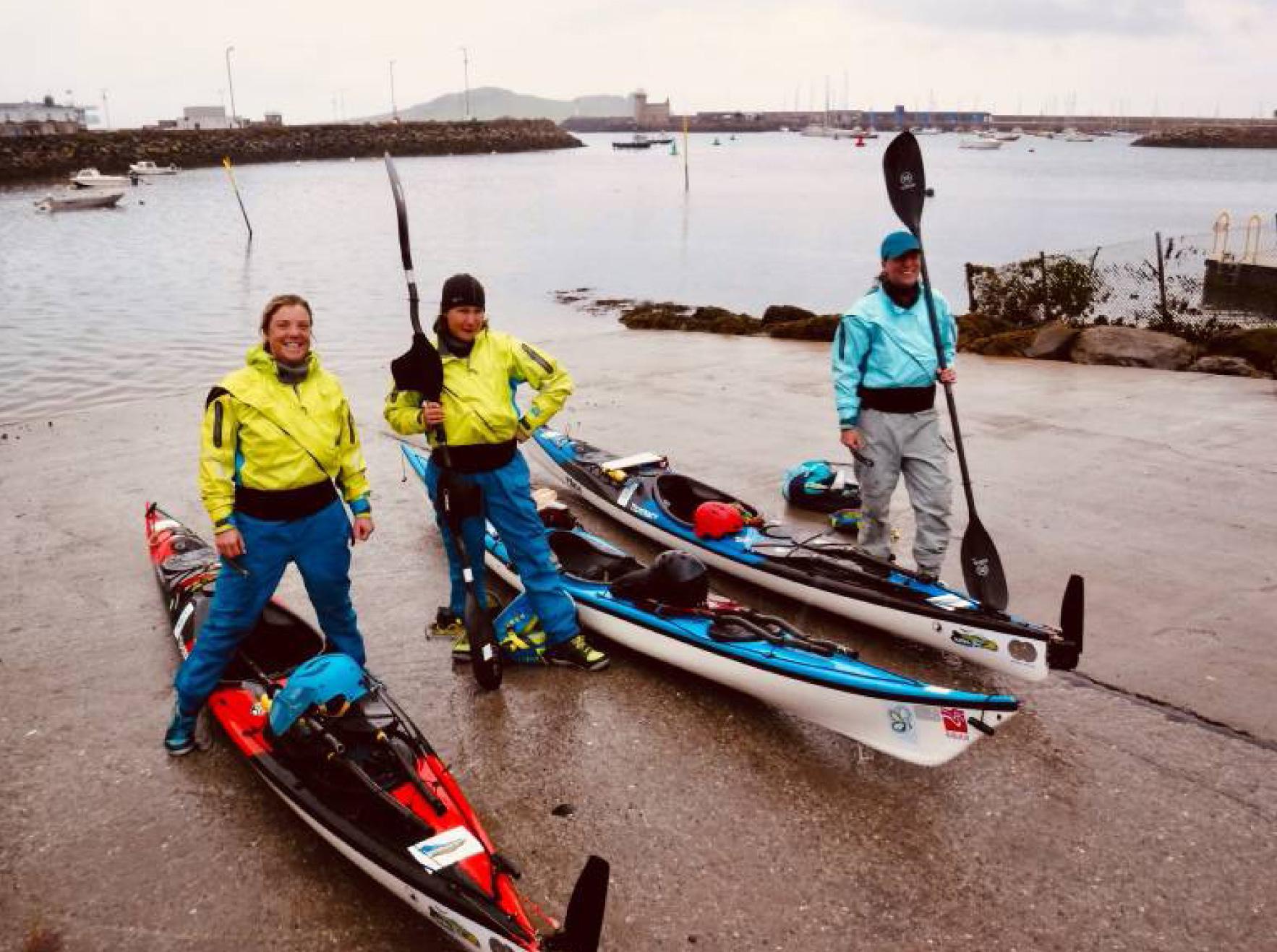 Three women kayak around Ireland in 2019