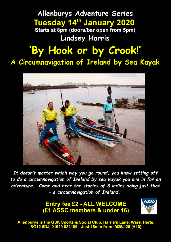 By Hook or by Crook! Three women's sea kayaking adventure around Ireland - poster