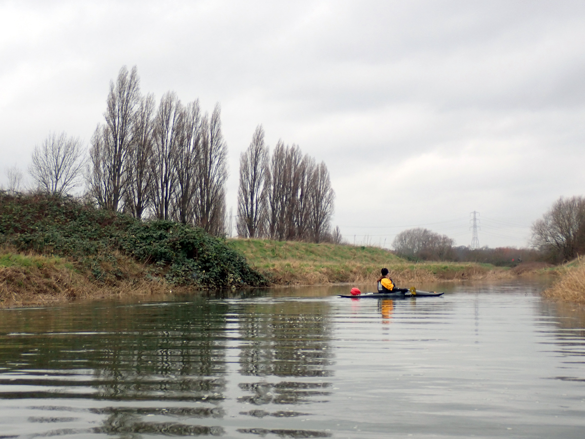 Ilford Golf Course, as seen from the river