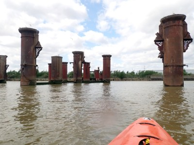 Kayaking the Thames from Rainham to the Thames Barrier and back