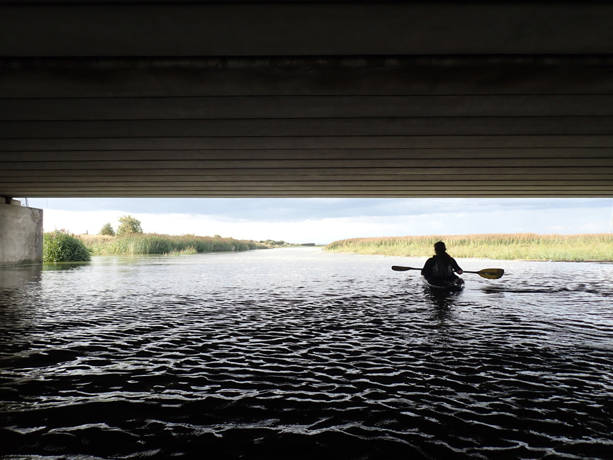 Kayaking under the A206 on the Darent, towards the Thames