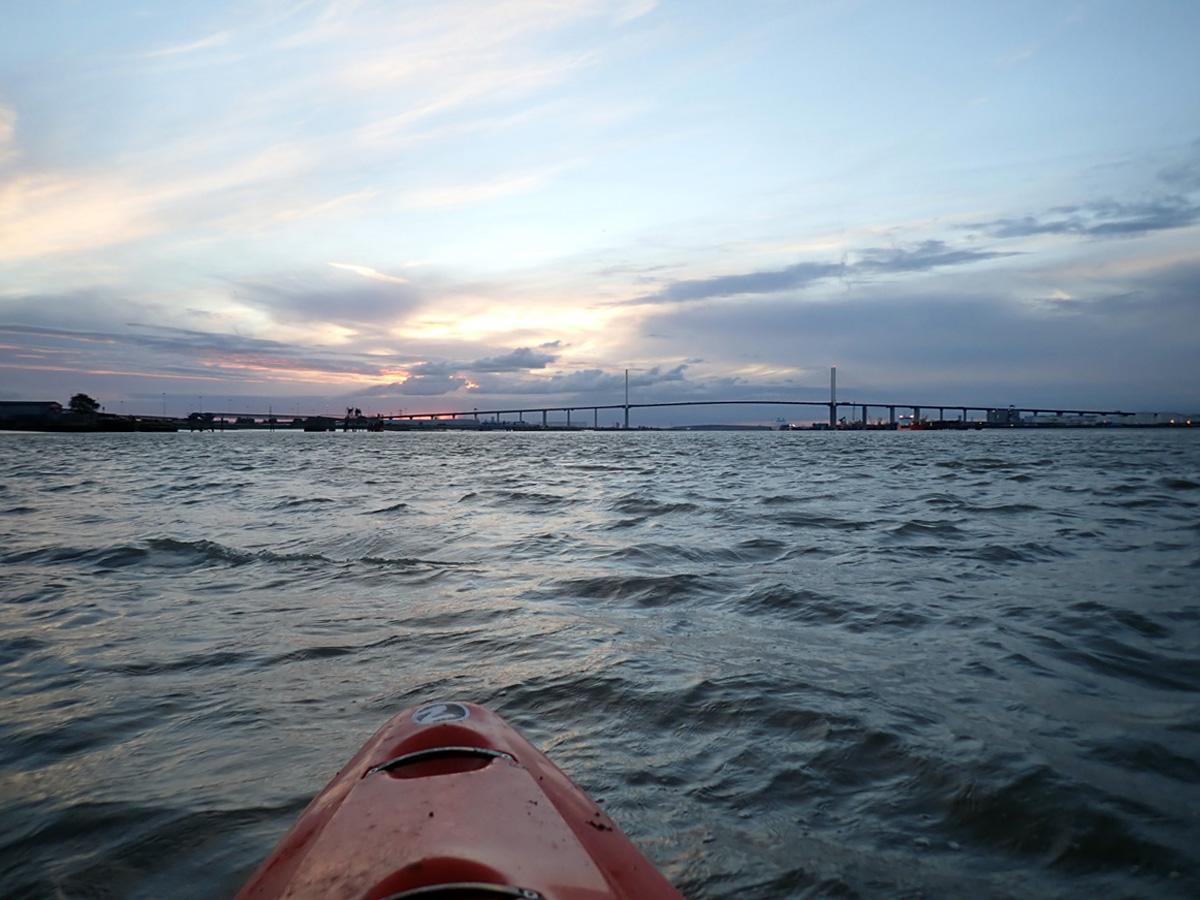 The Thames and QEII Bridge at sunset