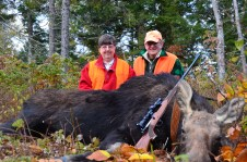 Successful October Cow Moose in Maine with Elbridge & Judy Cleaves