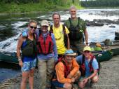 Allagash Falls Canoe the Wild Group
