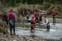 Bonaventure-River-Canoe-Trip-avoiding-strainer