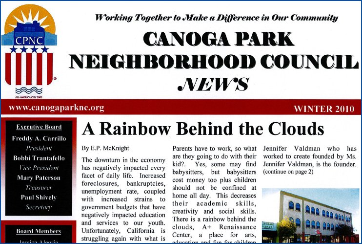 CPNC Newsletter Winter 2010 Edition