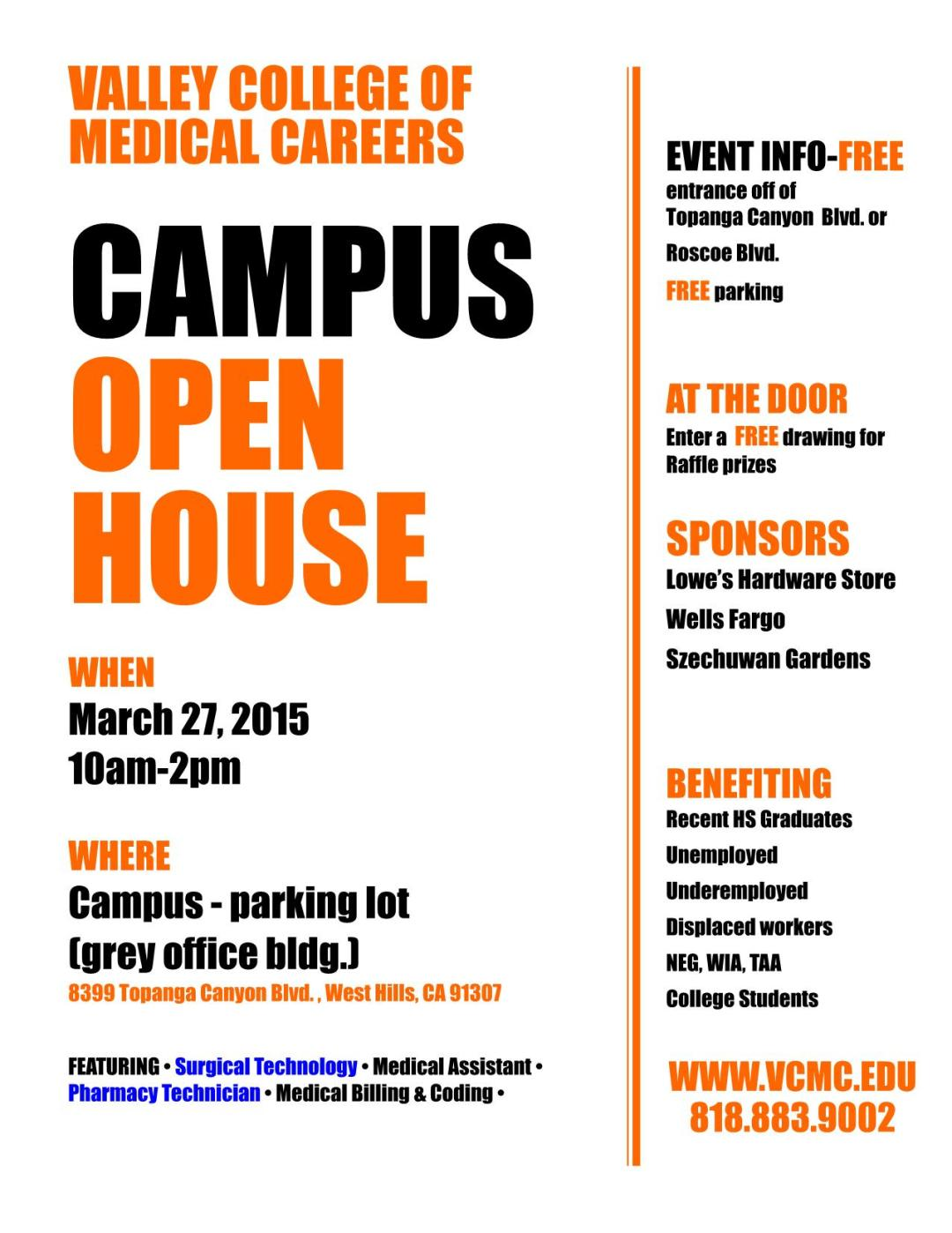 Valley College of Medical Careers Campus Open House