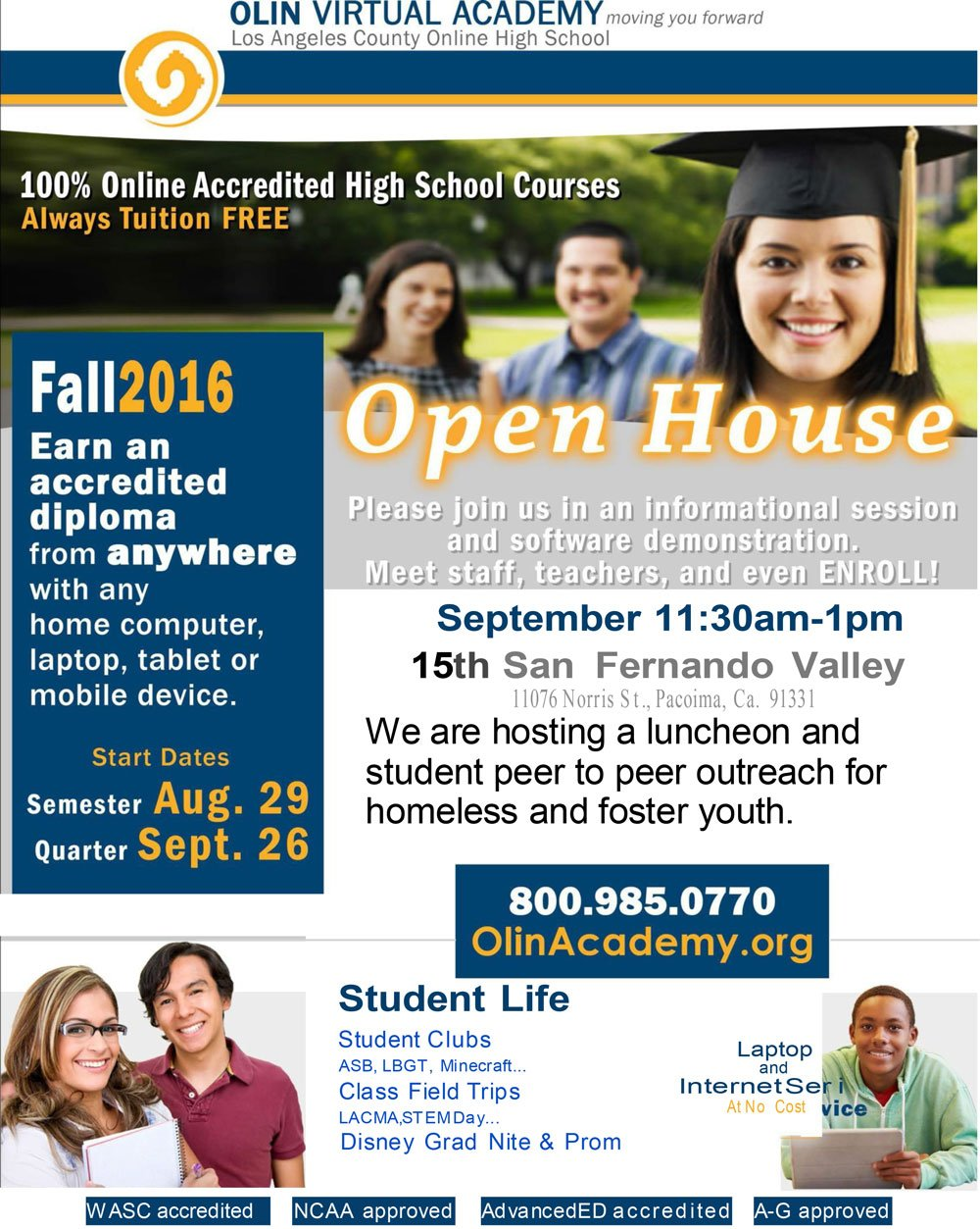 LA County Online High School – Homeless Student Outreach Luncheon