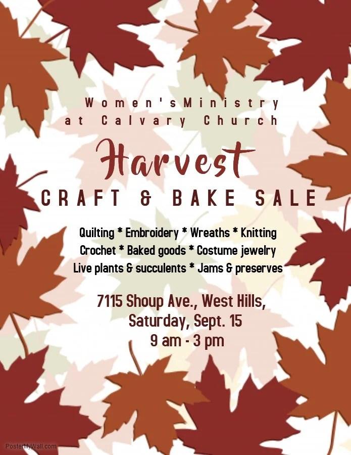 Harvest Craft & Bake Sale