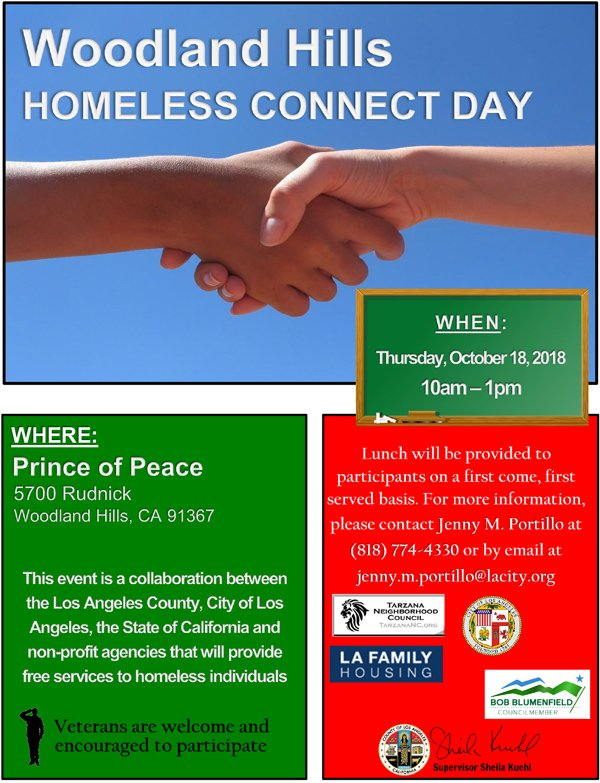 Woodland Hills Homeless Connect Day – Thursday, October 18