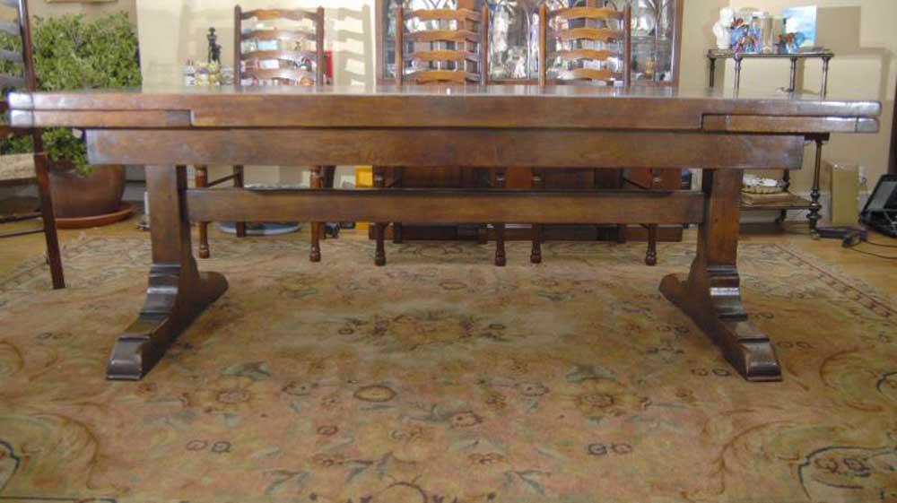10 Ft English Oak Farmhouse Table Farmhouse Extender
