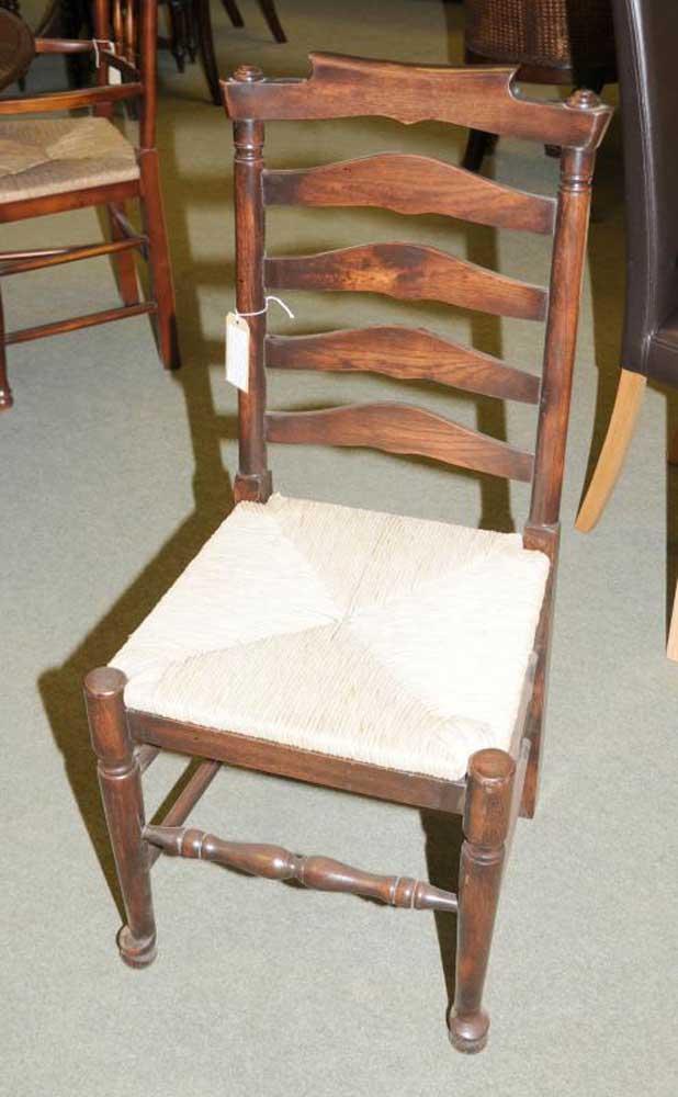 6 Oak Ladderback Farmhouse Kitchen Chairs Chair