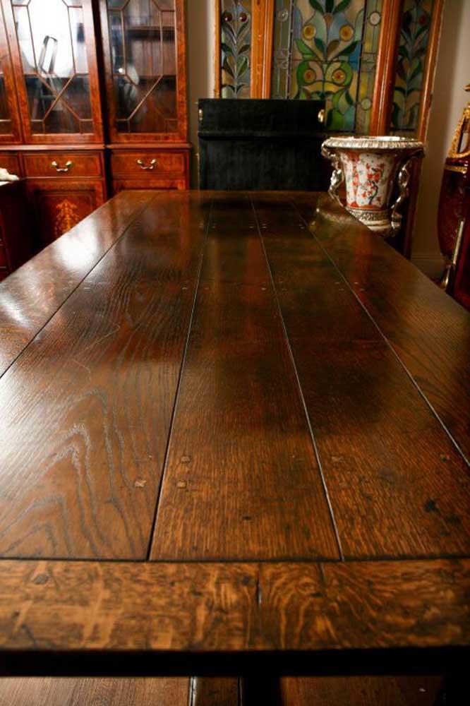 Extending Oak Refectory Table Farmhouse Dining Table