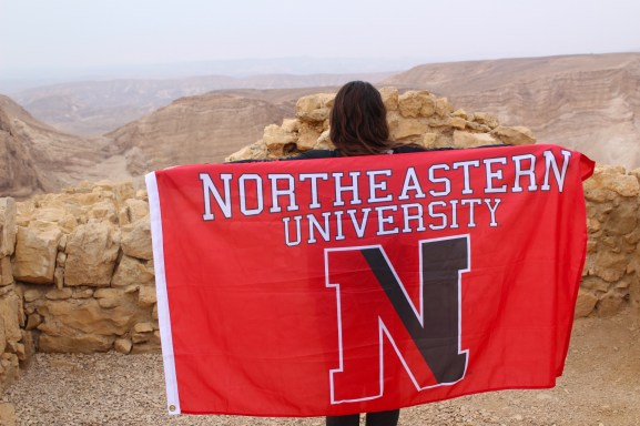 Representing my university on top of Masada