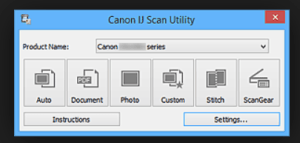 IJ Start Canon Scanner Utility