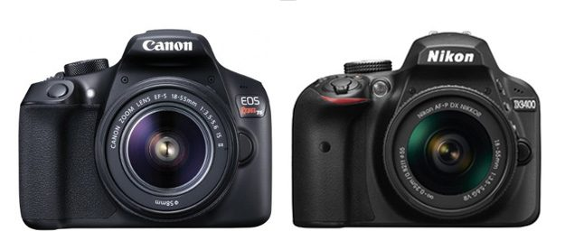 Canon T6 vs Nikon D3400 comparison review