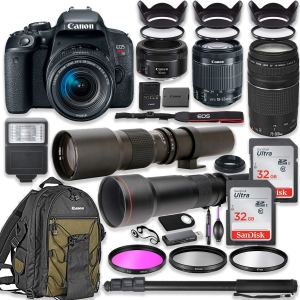 Canon T7i 3 lenses bundle