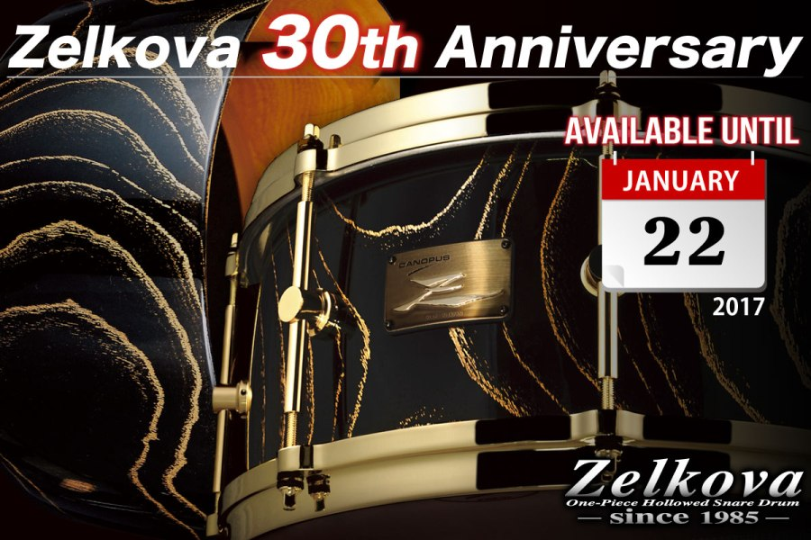 Zelkova Snare Drum 30th Anniversary