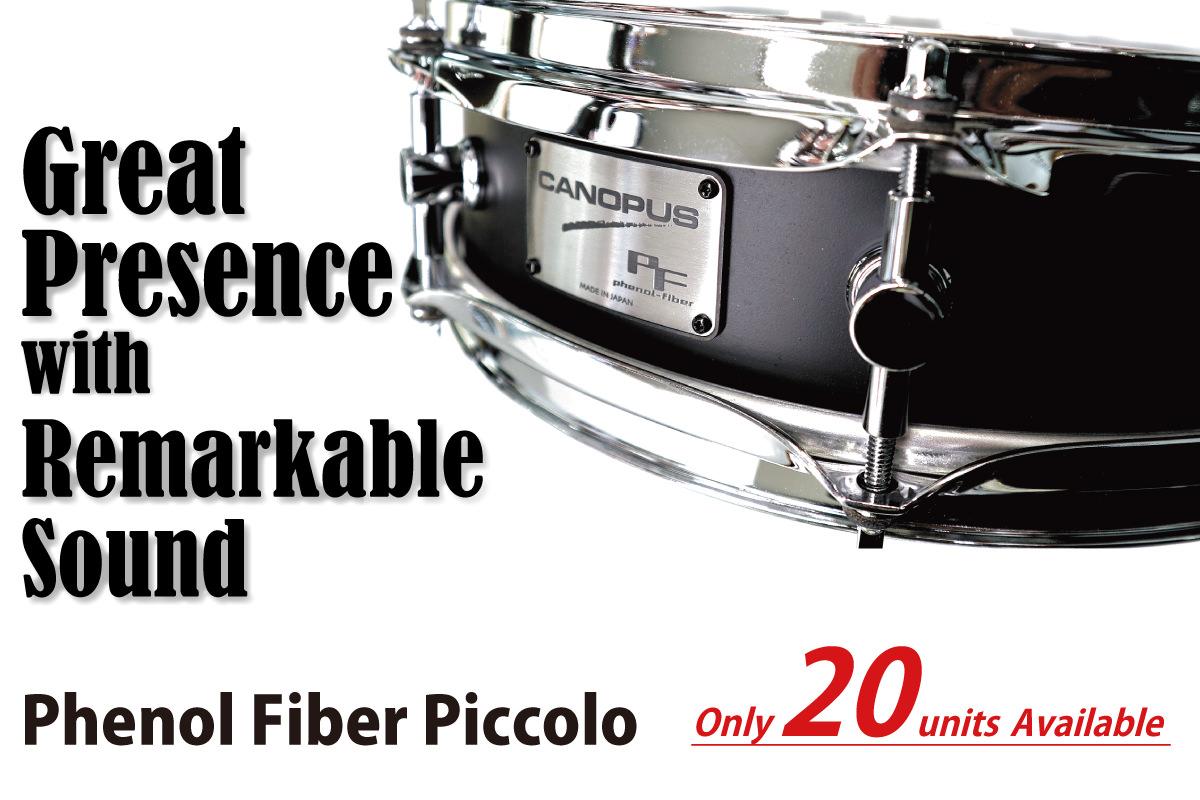 Phenol Fiber Piccolo Snare Drum | CANOPUS DRUMS