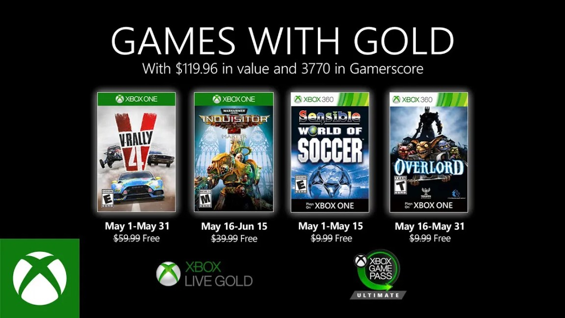 Xbox - May 2020 Games with Gold