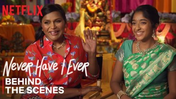 Never Have I Ever | Mindy Kaling & Maitreyi Ramakrishnan Celebrate Ganesh Puja Episode | Netflix