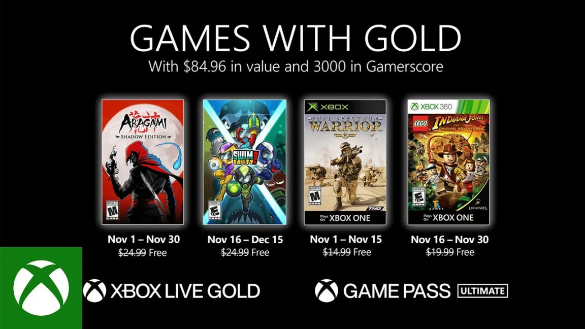 Xbox - November 2020 Games with Gold