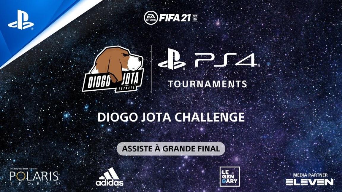 Torneio EA Sports FIFA 21 PS4 - Diogo Jota Challenge | ASSISTE À GRANDE FINAL, Torneio EA Sports FIFA 21 PS4 – Diogo Jota Challenge | ASSISTE À GRANDE FINAL