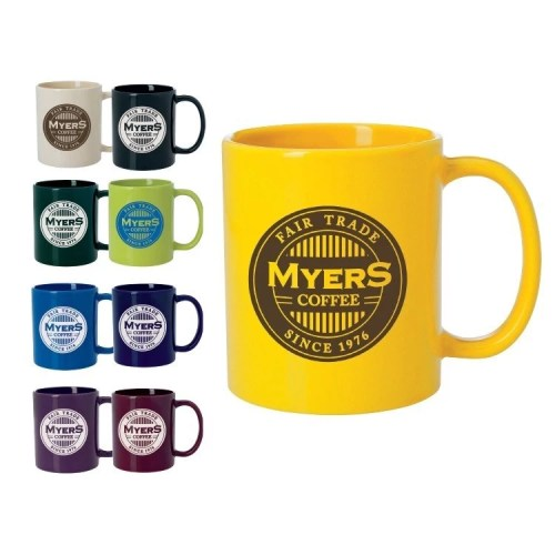 Colored Custom Budget Mugs