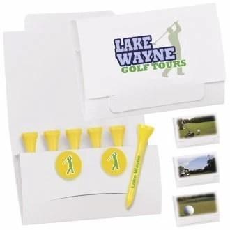 Custom Golf Tee Packet - open