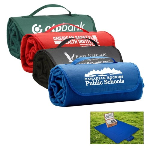 Roll-Up Picnic Blanket with Custom Logo
