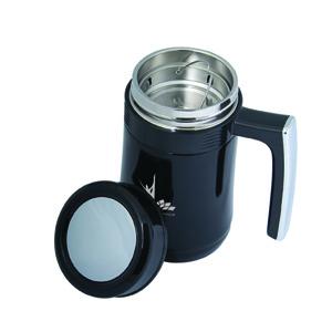 Tea Infuser Vacuum Travel Mug - black