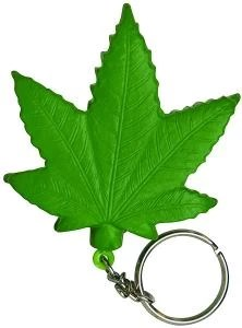 Cannabis Leaf Keychain Stress Reliever