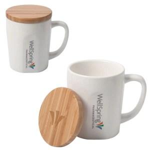 Bamboo Cover Custom Mug – 15 oz.