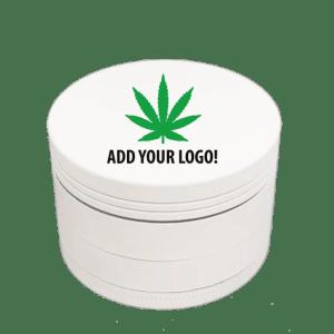 White Aluminum Custom Grinder – 50mm