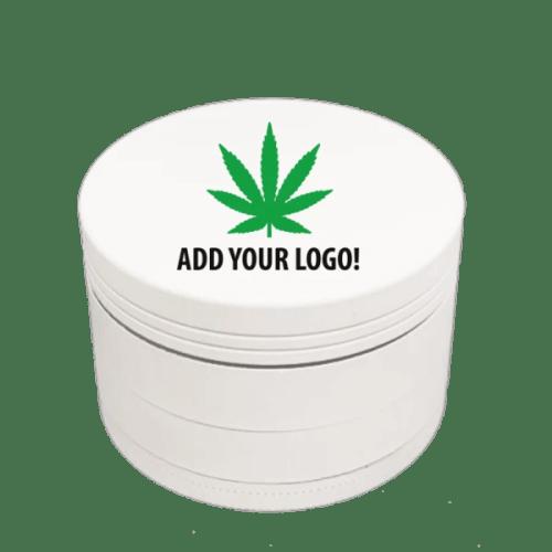White Aluminum Custom Grinder