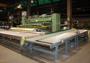 Shear system with return conveyor