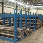 Stanchion racks for tube products (click for larger view)