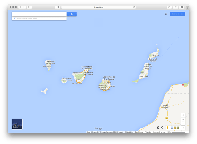 Google Maps en vista mapa