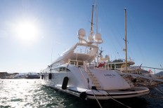 The Lisa IV (out of Valletta, Malta) ... one of many luxury yachts in old port of St Tropez